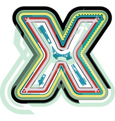 Abstract colorful letter x vector
