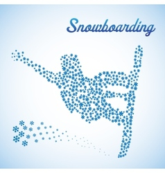 Abstract snowboarder in jump vector image