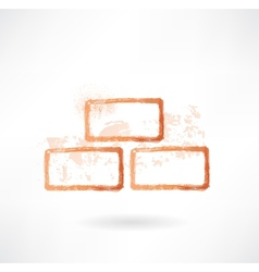 bricks grunge icon vector image vector image