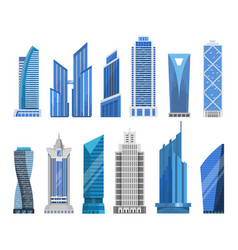 Buildings skyscrapers in a flat style vector