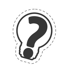 bulb question mark image outline vector image