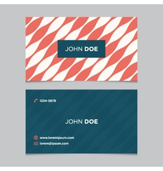 business card pattern red 09 vector image