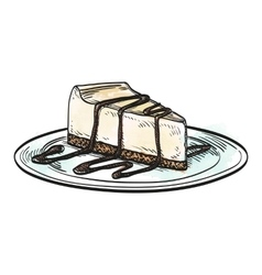 Cheesecake vector