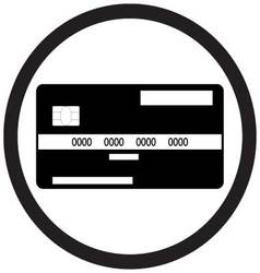 Credit card flat icon monochrome vector image