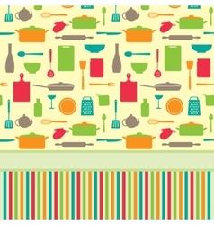 Cute colorful menu template vector image