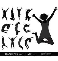 Dancing young people vector