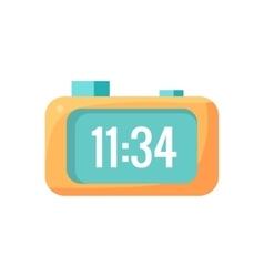 Electronic alarm clock cartoon design vector