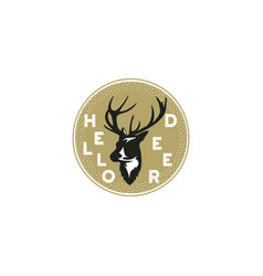 hand drawn with a deer and typography vector image