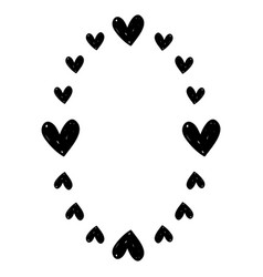 Hearts decoration design border vector