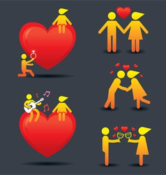Human symbol love story concept vector