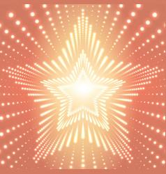 Infinite star tunnel of shining vector