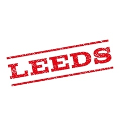 Leeds watermark stamp vector