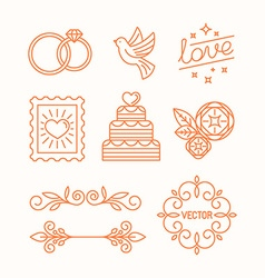 linear design elements for wedding invitations vector image