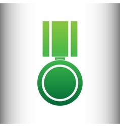Medal sign green gradient icon vector