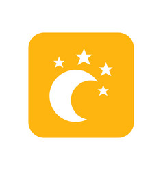 Moon and star lullaby good night flat color vector