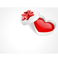 open gift heart vector image