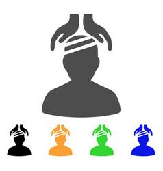 Psychiatry patient cure hands flat icon vector