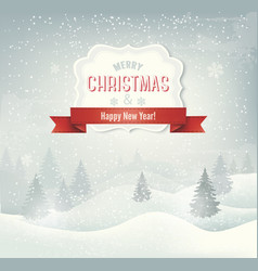 Retro holiday christmas background with winter vector image vector image