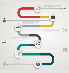 road infographic timeline with icons vector image vector image