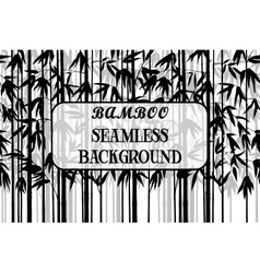 Seamless background bamboo silhouettes vector