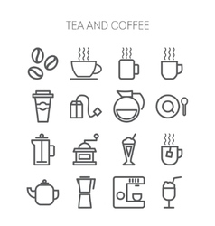 Set of simple icons for restaurant cafe coffee vector image vector image