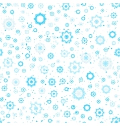 Snowflakes seamless pattern blue and white colors vector image