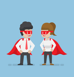 super businessman and businesswoman vector image vector image