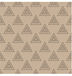 Triangle brown seamless pattern vector