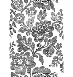 1 Abstract hand-drawn floral seamless pattern vector image vector image