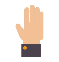 Hand finger human icon vector