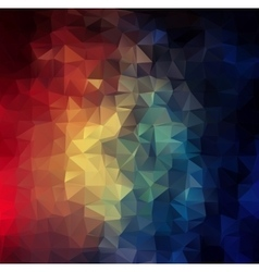 Abstract 2d colorful triangle geometric background vector