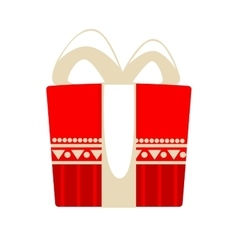 Christmas gift box for holiday vector