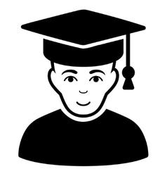 Professor flat icon vector