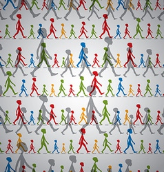 Walking kids seamless background vector
