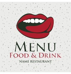 Mouth menu vector image