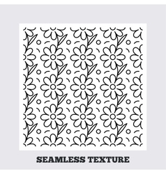 Flower stripped seamless pattern vector