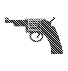 Revolver sign on white vector