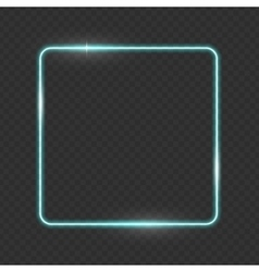 Neon frame buttons on checkered abstract vector
