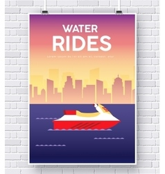 Water scooter on brick wall vector