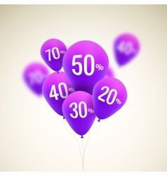 Baloons discount sale concept for shop market vector