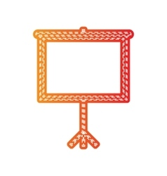 Blank projection screen orange applique isolated vector