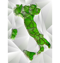 Abstract triangular map of italy vector