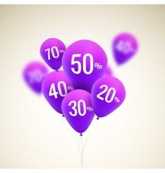 Baloons Discount SALE concept for shop market vector image vector image