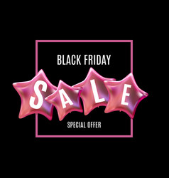 black friday sale balloon concept of discount vector image