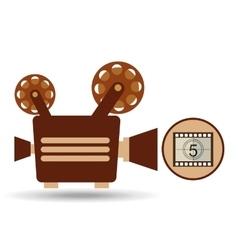 Camera movie vintage counting strip design vector