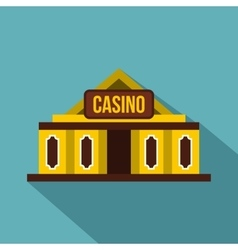 Casino building icon flat style vector