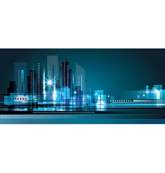 City Skyline at night vector image vector image