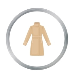 Coat icon of for web and vector image