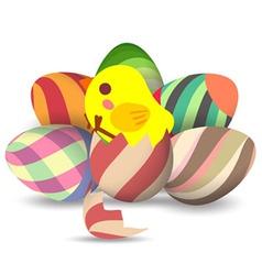 eggs hatch vector image