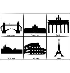 European landmarks vector image